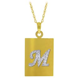 ALARRI 0.01 CTW 14K Solid Gold Initial Necklace Diamond