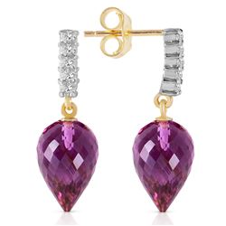 ALARRI 19.15 CTW 14K Solid Gold True Character Amethyst Earrings