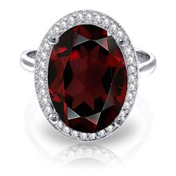 ALARRI 6.18 Carat 14K Solid White Gold Laughing You Garnet Diamond Ring