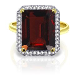 ALARRI 7.7 CTW 14K Solid Gold You Color Me Crazy Garnet Diamond Ring