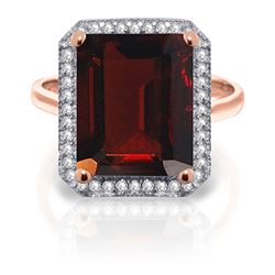 ALARRI 7.7 Carat 14K Solid Rose Gold Isabella Garnet Diamond Ring