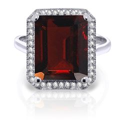 ALARRI 7.7 Carat 14K Solid White Gold Joy To Others Garnet Diamond Ring