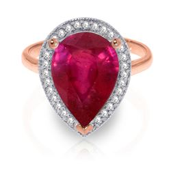 ALARRI 5.51 Carat 14K Solid Rose Gold Lana Ruby Diamond Ring