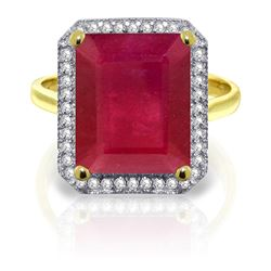 ALARRI 7.45 Carat 14K Solid Gold Be You Just You Ruby Diamond Ring