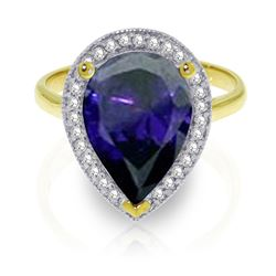 ALARRI 5.26 Carat 14K Solid Gold Your Countenance Sapphire Diamond Ring