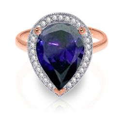 ALARRI 5.26 CTW 14K Solid Rose Gold Lana Sapphire Diamond Ring