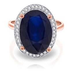 ALARRI 6.58 CTW 14K Solid Rose Gold Loren Sapphire Diamond Ring