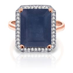 ALARRI 6.6 CTW 14K Solid Rose Gold Isabella Sapphire Diamond Ring