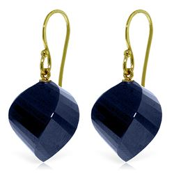 ALARRI 30.5 Carat 14K Solid Gold Ella Sapphire Earrings