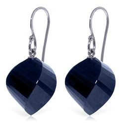 ALARRI 30.5 Carat 14K Solid White Gold I Beseech You Sapphire Earrings