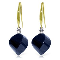 ALARRI 30.6 Carat 14K Solid Gold Obsession Sapphire Diamond Earrings