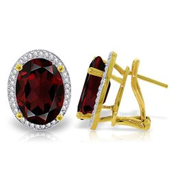 ALARRI 12.46 CTW 14K Solid Gold Loren Garnet Diamond Earrings