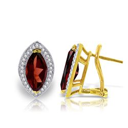 ALARRI 4.3 CTW 14K Solid Gold Hayworth Garnet Diamond Earrings