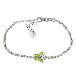 ALARRI 0.6 Carat 14K Solid White Gold Step Closer Peridot Bracelet