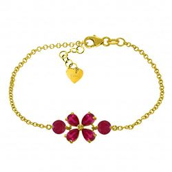 ALARRI 3.15 Carat 14K Solid Gold Bracelet Natural Ruby
