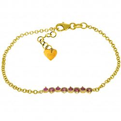 ALARRI 1.55 Carat 14K Solid Gold Bracelet Natural Ruby