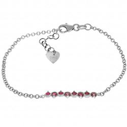 ALARRI 1.55 Carat 14K Solid White Gold Bracelet Natural Ruby