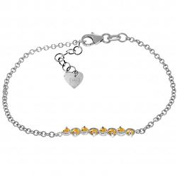 ALARRI 1.55 Carat 14K Solid White Gold Bracelet Natural Citrine