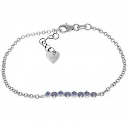 ALARRI 1.55 Carat 14K Solid White Gold Bracelet Natural Tanzanite