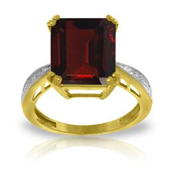 ALARRI 7.52 Carat 14K Solid Gold Ring Natural Diamond Garnet