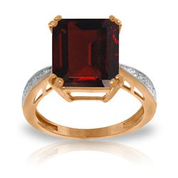 ALARRI 7.52 CTW 14K Solid Rose Gold Ring Natural Diamond Garnet