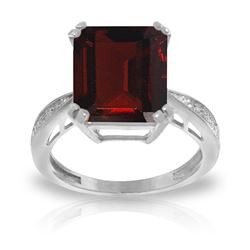 ALARRI 7.52 CTW 14K Solid White Gold Ring Natural Diamond Garnet