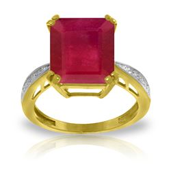 ALARRI 7.27 Carat 14K Solid Gold Ring Natural Diamond Ruby