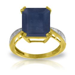 ALARRI 7.27 Carat 14K Solid Gold Ring Natural Diamond Sapphire