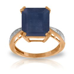 ALARRI 7.27 Carat 14K Solid Rose Gold Ring Natural Diamond Sapphire