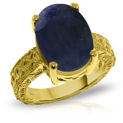 ALARRI 14K Solid Gold Ring w/ Natural Oval Sapphire