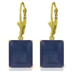 ALARRI 14K Solid Gold Leverback Earrings w/ Sapphires