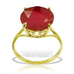 ALARRI 14K Solid Gold Ring w/ Natural 12.0 mm Round Ruby