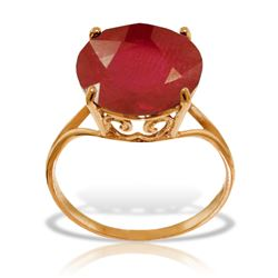 ALARRI 14K Solid Rose Gold Ring w/ Natural 12.0 mm Round Ruby