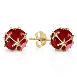 ALARRI 14K Solid Gold Stud Earrings w/ Natural Rubies
