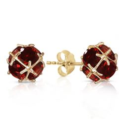 ALARRI 14K Solid Gold Stud Earrings w/ Natural Garnets
