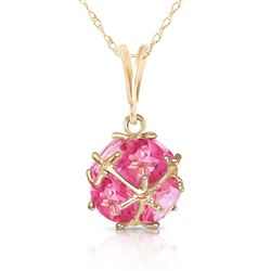 ALARRI 14K Solid Gold Necklace w/ Natural Pink Topaz