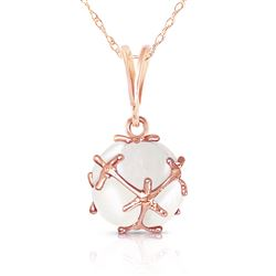 ALARRI 14K Solid Rose Gold Necklace w/ Natural Opals