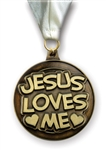 Jesus Loves Me Medallion