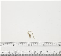 Gold Filled Earwire - Ball and Coil #1 22mm