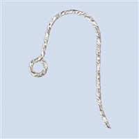 Sterling Silver Earwire - Sparkle French