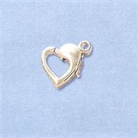 Sterling Silver Heart Lobster - Horizontal 9.5x8mm