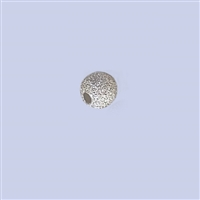 Sterling Silver Stardust Beads - 4mm