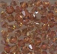 Swarovski 3mm 5301/5328 Bicone - Copper Color