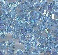 Swarovski 4mm 5301/5328 Bicone - Aquamarine AB Color