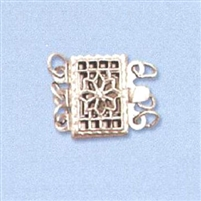 Sterling Silver Filigree - Rectangle Clasp - 3 row