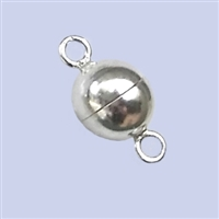 Sterling Silver Magnetic Clasp - Round Bead shape 8mm