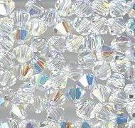 Swarovski 4mm 5301/5328 Bicone - Clear Crystal AB