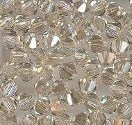 Swarovski 4mm 5301/5328 Bicone - Golden Shadow Colors