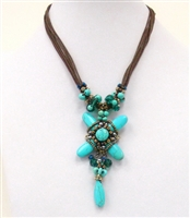 NZXL-0056-4 Designed Stone Necklace.