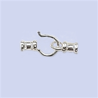 Sterling Silver Crimp End - Designed  #1 1.2mm with Hook